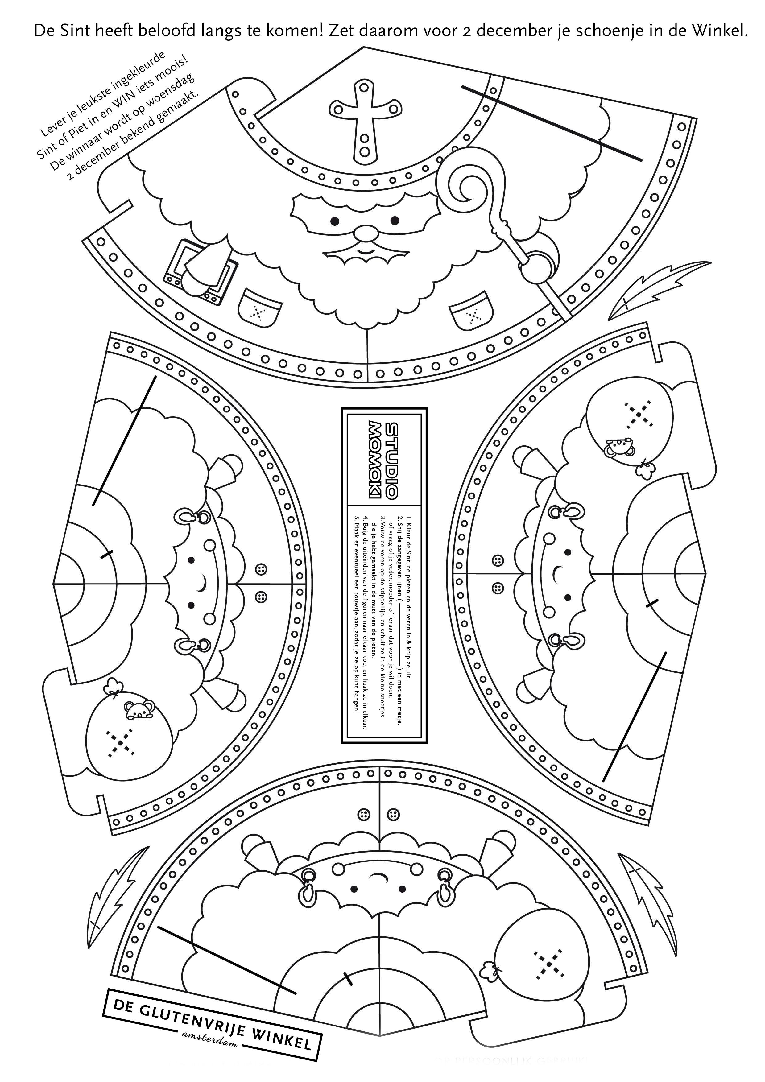 Kleurplaten Sinterklaas Schoen Zetten.Bekendmaking Winnaar Schoenzetten Kleurplaat Sinterklaas De